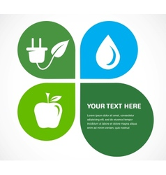 recycle icons wit place for your text vector image vector image