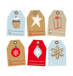 set of tags for gifts vector image vector image