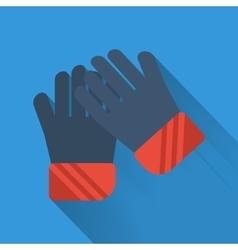 Winter flat icon - gloves vector image vector image