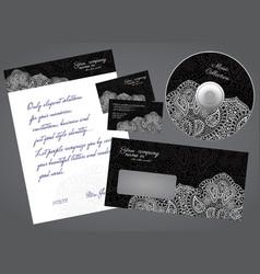 Business style elegant black concept set vector