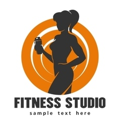 Fitness Center or Studio Template vector image vector image