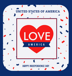love america background vector image vector image