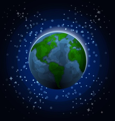 Planet Earth in space vector image