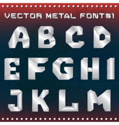 steampunk metal alphabet for design vector image vector image