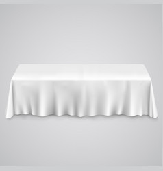table with tablecloth vector image vector image