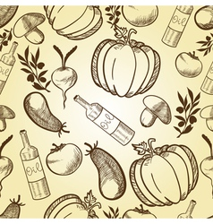 vegetables in retro style vector image
