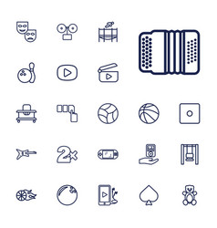22 play icons vector