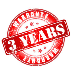 3 years warranty stamp vector