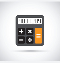 a simple calculator vector image