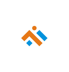 Abstract shape business construction logo vector