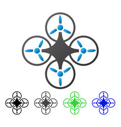 Air drone flat gradient icon vector