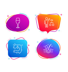 Algorithm like and wineglass icons set serum oil vector