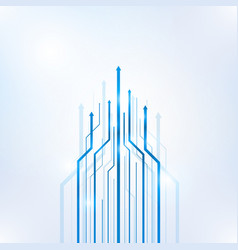 Arrow blue geometric abstract technology vector