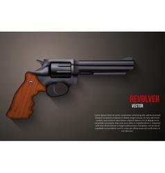 Background of Black gun metal Revolver vector
