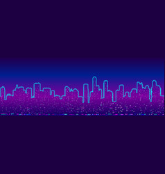 background with futuristic cityscape vector image