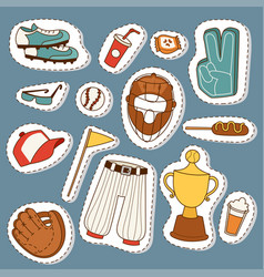 baseball sport competition game team symbol vector image