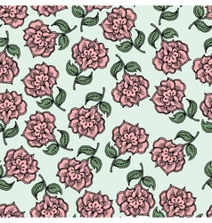 Beautiful vintage seamless floral background vector image vector image