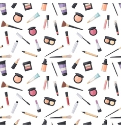 Beauty cosmetic seamless pattern vector