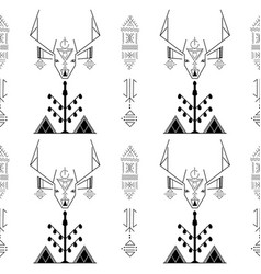 berber tattoos and barbary stag vector image