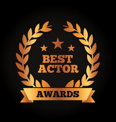 Best actor award wreath laurel ribbon vector