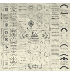Big Set of Decorative Hand Drawn Design vector