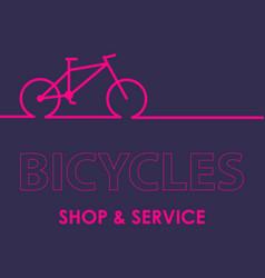biking linear stylish logo vector image