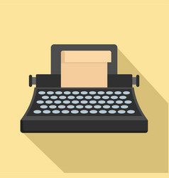 black classic typewriter icon flat style vector image