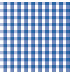 Blue and white plaids seamless pattern checkered vector