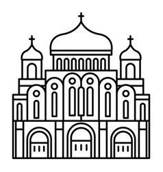 cathedral temple icon outline style vector image