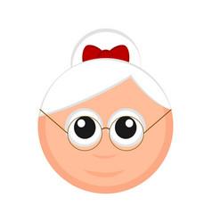christmas mrs claus avatar vector image