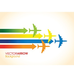 colourful planes vector image