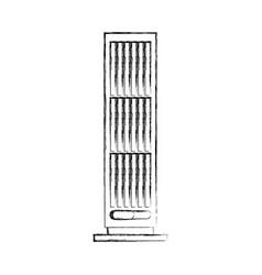 Column fan isolated icon vector