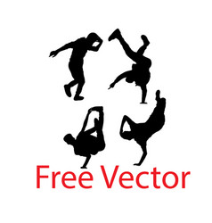 Dance people silhouettes vector