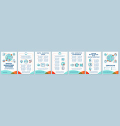 digital marketing education brochure template vector image
