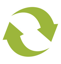 ecologycal flat green recycle eco sign isolated on vector image