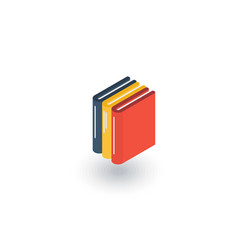 Education book library literature isometric flat vector