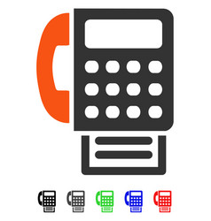 fax flat icon vector image