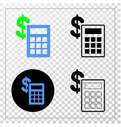 financial calculator eps icon with contour vector image