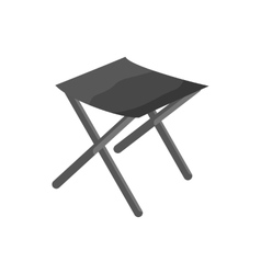 Fishing folding chair icon black monochrome style vector