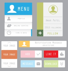 Flat web and mobile design elements vector
