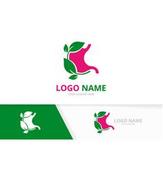 Gastrointestinal tract logotype design eco vector