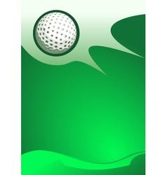 Golf sport background vector