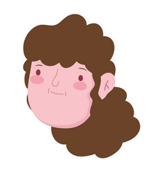 grandparents day elderly woman granny face vector image