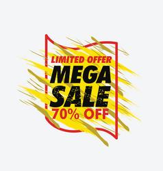 grunge mega sale banner vector image