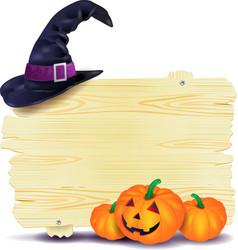 halloween signboard vector image