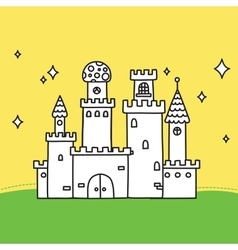 Hand drawn doodle magic castle vector image