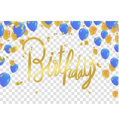 happy birthday lettering hand drawn invitation vector image