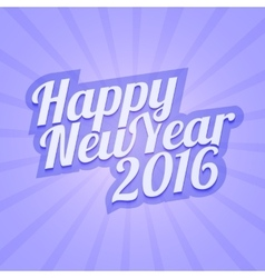 Happy new year 2016 with calligraphic vector