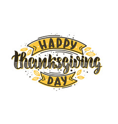 Happy thanksgiving day text vector