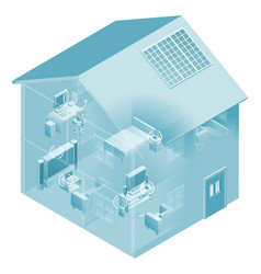 home local area network house vector image